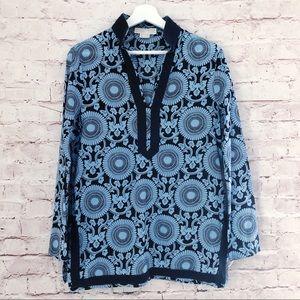 MICHAEL KORS | printed tunic blouse top M